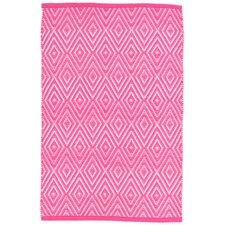 Diamond Pink/White Indoor/Outdoor Area Rug