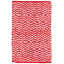 Diamond Red/White Indoor/Outdoor Area Rug