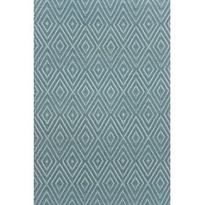 Diamond Slate & Light Blue Indoor/Outdoor Area Rug