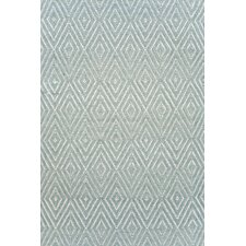 Diamond Light Blue & Ivory Indoor/Outdoor Area Rug