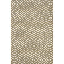 Diamond Khaki & White Indoor/Outdoor Area Rug
