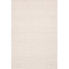 Rope Hand-Woven White Indoor/Outdoor Area Rug