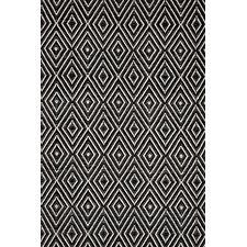 Diamond Hand Woven Black Indoor/Outdoor Area Rug