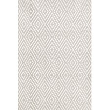 Diamond Platinum & White Indoor/Outdoor Area Rug