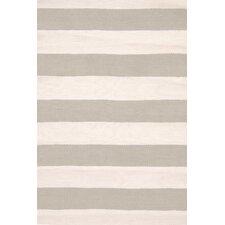 Catamaran Hand-Woven Gray/White Indoor/Outdoor Area Rug