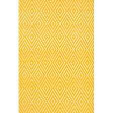 Diamond Canary & White Indoor/Outdoor Area Rug