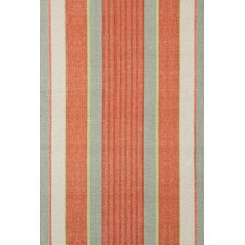 Woven Orange Autumn Stripe Area Rug