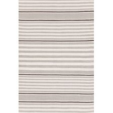 Indoor/Outdoor Beckham Platinum Brown/White Striped Outdoor Area Rug