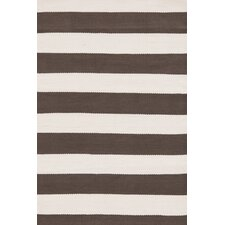 Indoor/Outdoor ICatamaran Brown/Cream Striped Outdoor Area Rug