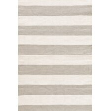 Catamaran Ivory & Taupe Striped Indoor/Outdoor Area Rug
