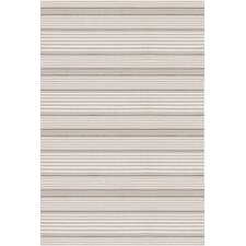 Rugby Platinum Striped Indoor/Outdoor Area Rug