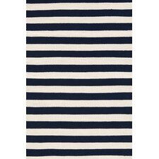 Trimaran Striped Navy/Ivory Indoor/Outdoor Area Rug