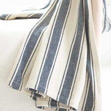 Awning Stripe Woven Cotton Throw
