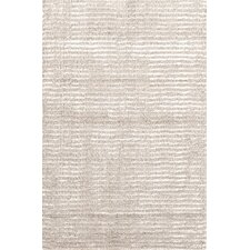 Cut Stripe Knotted Beige Area Rug