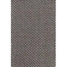 Two Tone Rope Black/Ivory Indoor/Outdoor Area Rug