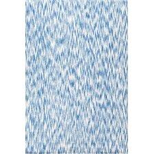 Ikat Chenille Blue/White Area Rug