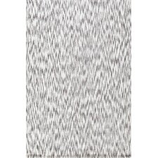 Ikat Chenille Grey Area Rug