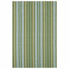 Woven Green Caravan Stripe Indoor Area Rug