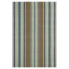 Flat Woven Blue Area Rug