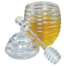 3-Piece Honey Jar and Dipper Set