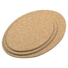 3 Piece Oval Cork Trivet Set