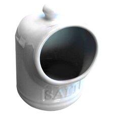 Porcelain Salt Pig in White