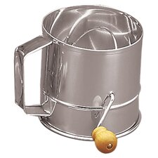 Stainless Steel Crank Sifter (3 Cups)