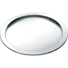 Round Tray in Matte with Polished Edge