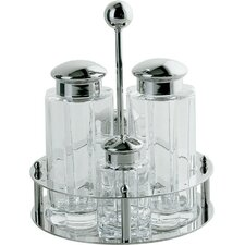4-Piece Condiment Set in Polished