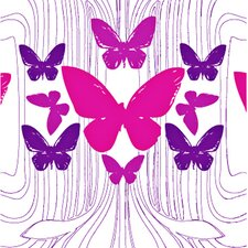 California 16' x 23.5'' Butterflies Wallpaper