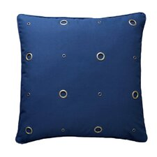 Textured Grommeted Cotton Throw Pillow