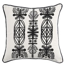 Screen Print Branches Cotton Throw Pillow