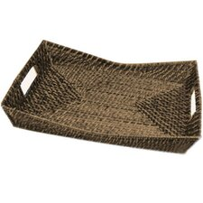 Rattan Rectangular Flare Serving Tray (Set of 2)