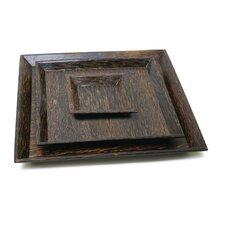 "Natural Materials 9.5"" Square Wood Plate"