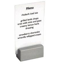 Stainless Steel Brushed Menu Holder or Sign Holder (Set of 6)