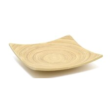 Square Winged Bamboo Plate (Set of 2)