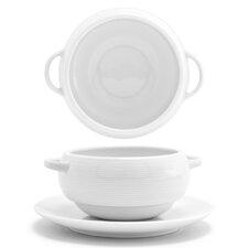 Spiral 10 oz. Stackable Cream Soup Bowl (Set of 4)