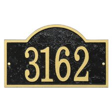 fast and easy arch address plaque