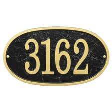 Fast and Easy Oval Address Plaque