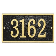 Fast and Easy Rectangle Address Plaque