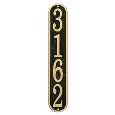 Fast and Easy Vertical House Address Plaque