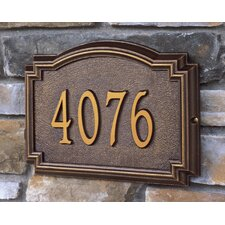 Whitehall Products Williamsburg 1 Line Standard Wall Address Plaque