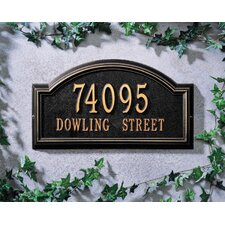 Providence Arch 2 Line Standard Wall Address Plaque