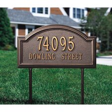 Providence Arch 2 Line Standard Lawn Address Sign