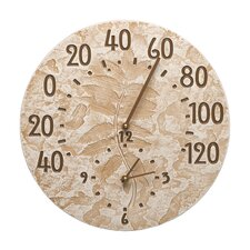 """Fossil 14.5"""" Sumac Thermometer Clock"""