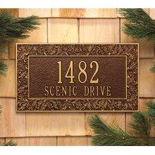 Oakleaf Frame Address Plaque