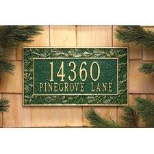 Pinecone Frame Address Plaque