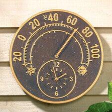 """Solstice 14"""" Clock Hygrometer"""