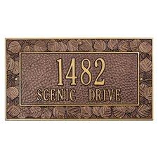 Aspen Frame Address Plaque