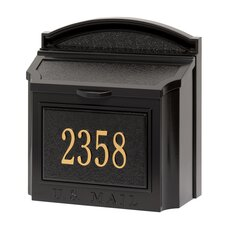 Wall Mounted Mailbox with Outgoing Mail